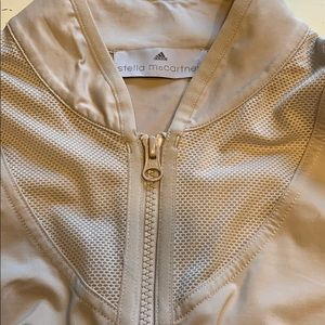 Adidas by Stella McCartney Jackets & Coats - Stella McCartney perforated track jacket nude S